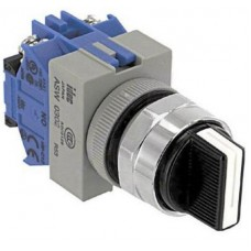 IDEC Rotary Switch, 3 Position, 4 Pole, 45 °, 10 A, 600 V, ASW340